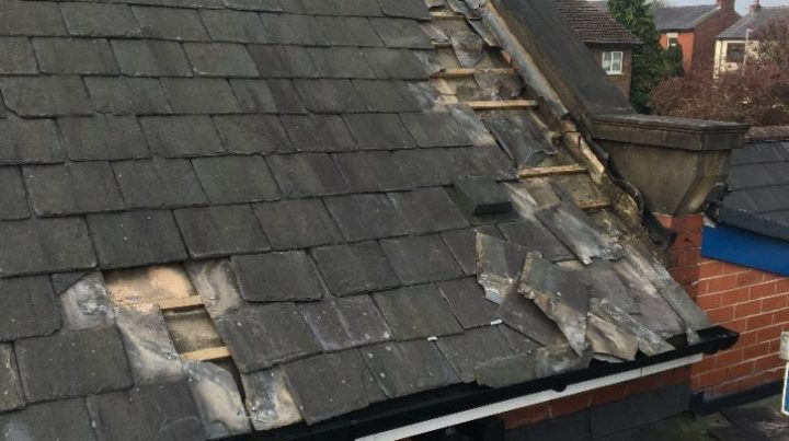The state of the roof after being targeted by lead thieves Pic: Kennington Primary School