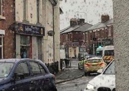 Police presence in Watkin Lane Pic: Aaron Dawber
