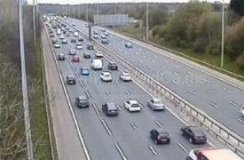 Traffic slowing on the M61 southbound during Sunday afternoon Pic: Motorway Traffic Cameras