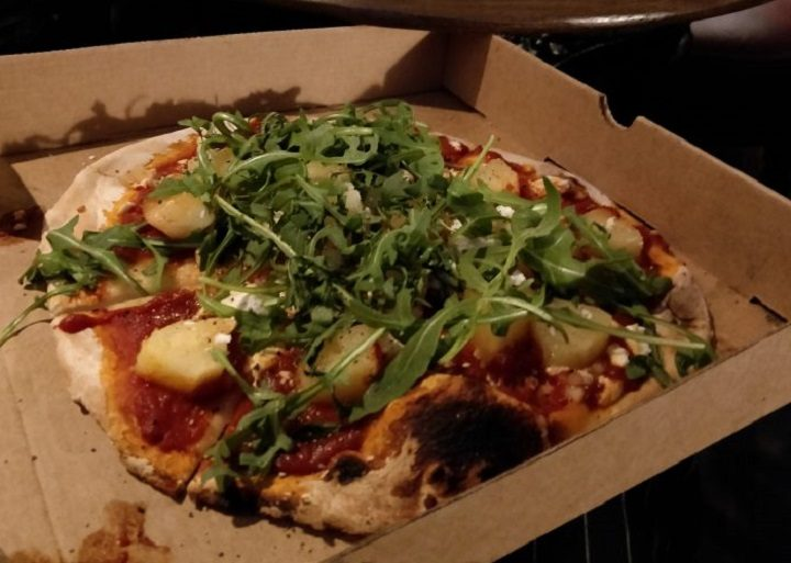 One of the wood-fired pizzas at The Moorbrook