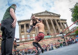 Preston City Wrestling on the Flag Market Pic: Michael Porter