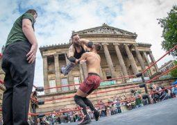 Preston City Wrestling on the Flag Market Pic: Michael Porter