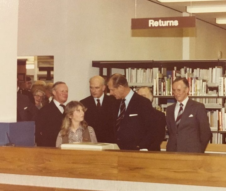 Sue Dawson meeting Prince Philip in 1979