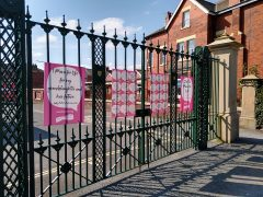 Race for Life posters in Moor Park, with inspiring and heartfelt messages Pic: Blog Preston