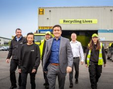 Some of the Recycling Lives team