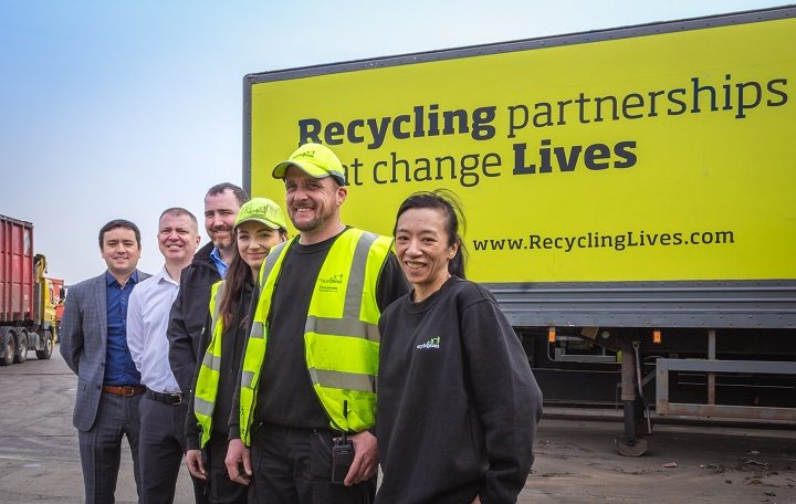 Chief Executive William Fletcher, Charity Chief Executive Alasdair Jackson, HMP Academies Operations Manager Tom Carysforth, Operations Manager Beth Mason, Depollution Manager Dean Maguire, and Car Collections Adviser Yukyin Chiu
