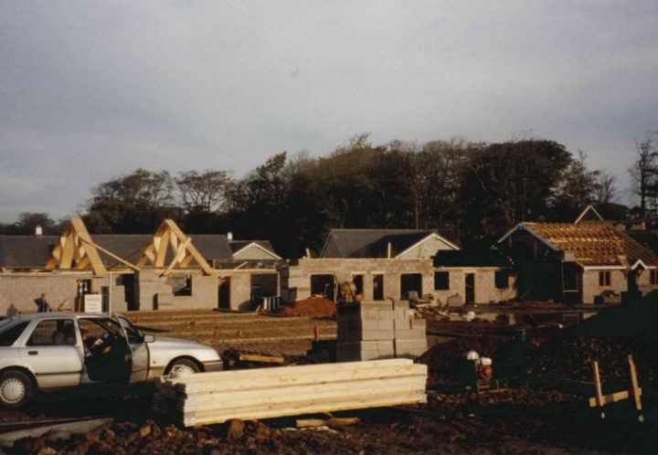 Construction work in 1995 at Ribby Hall