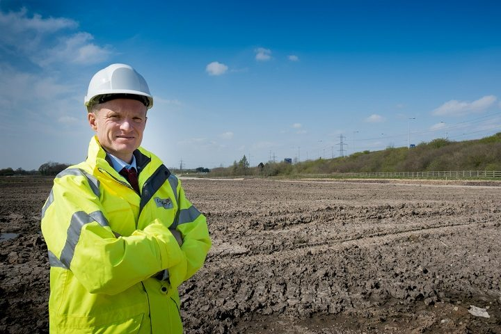 Stephen Young on site at Cuerden