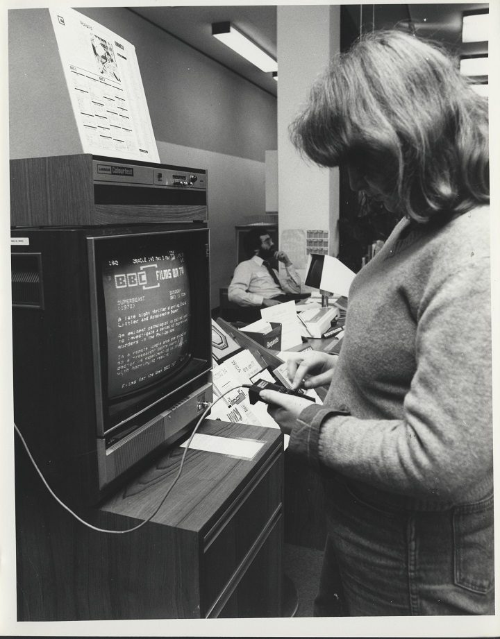 One of the early computers in the UCLan library
