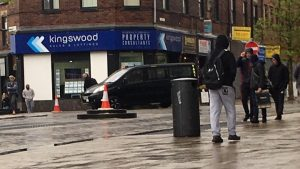 The taxi in Fishergate where it meets Corporation Street Pic: Blog Preston
