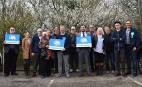 Sue Whittam, fourth from right, on the campaign trail with Preston Tories