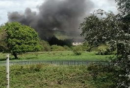 Smoke plume in Penwortham Pic: Claire Hewitson