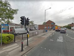The attack took place in an alley between the Co-Op and the library Pic: Google