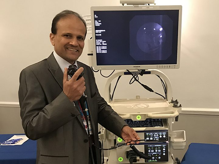 Dr Mohammed Munavvar with EBUS scope