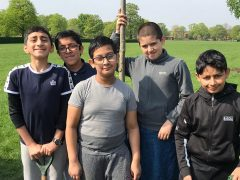 Members of Eden Boys' School eco group at Moor Park