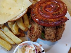 Ribble Pilot chicken and chorizo burger
