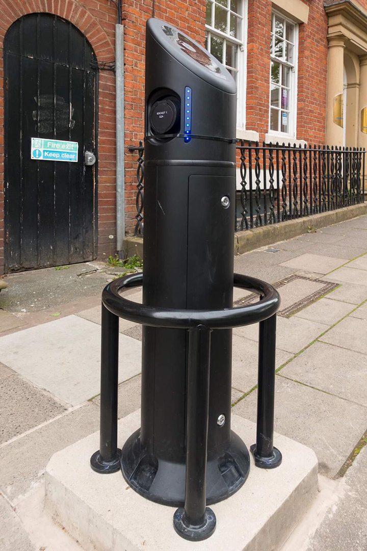 Electric vehicle charging point on Winckley Square Pic: David Toase