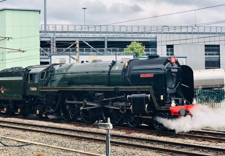 The Britannia steaming Pic: Louise Gooch