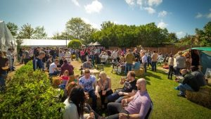 Enjoying the sunshine at the Conti Beer Festival