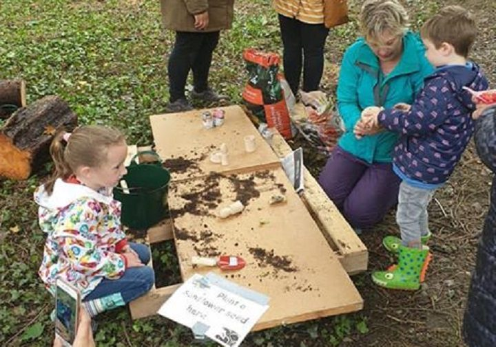 Messy play in the woods
