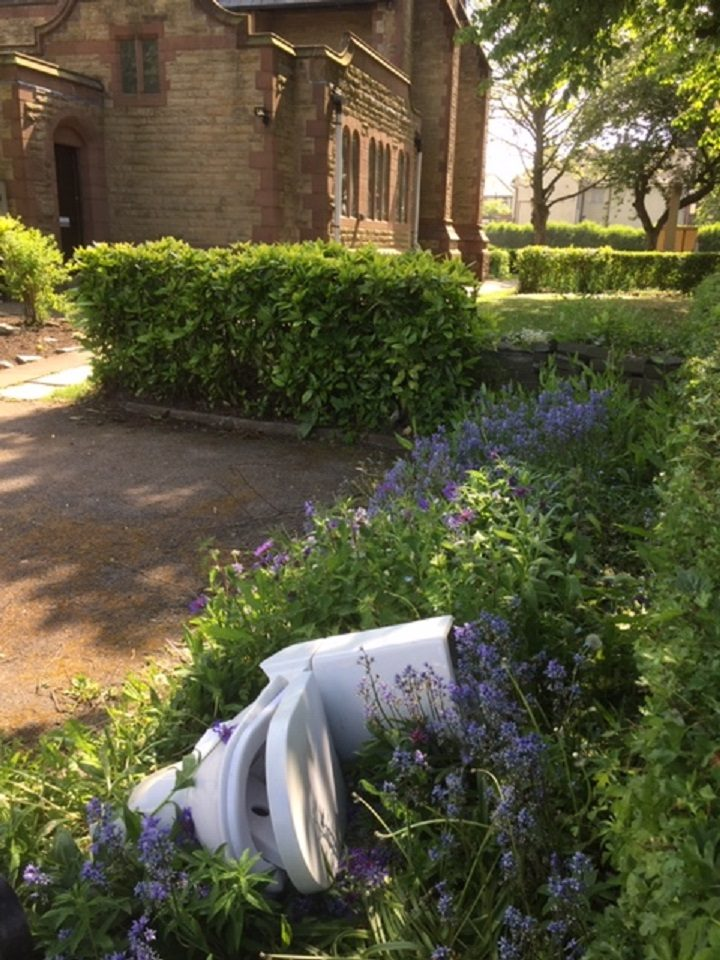 The toilet within the church grounds Pic: David Thorp