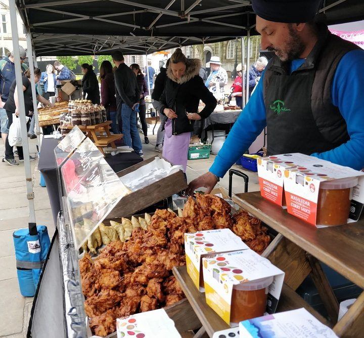 Bhajis and samosas at the Makers Market Pic: Blog Preston