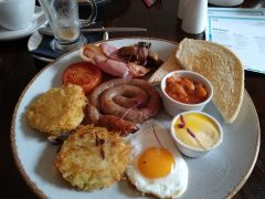 A full breakfast at the Plungington with a rogue fried egg instead of poached Pic: Blog Preston