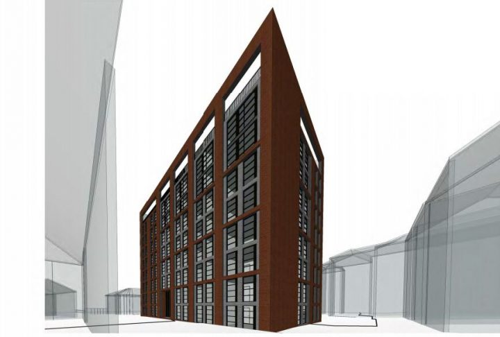 How the new apartment block down Garden Street could look