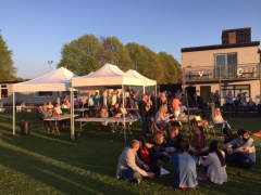 Drinking in the evening sun at the Vernon Carus Beer Festival last year