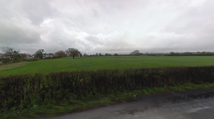 The field off Jepps Lane where the homes would be built Pic: Google