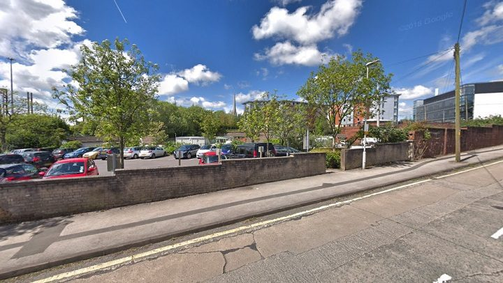 The travellers site sits behind the Leighton Street car park close to the university campus Pic: Google