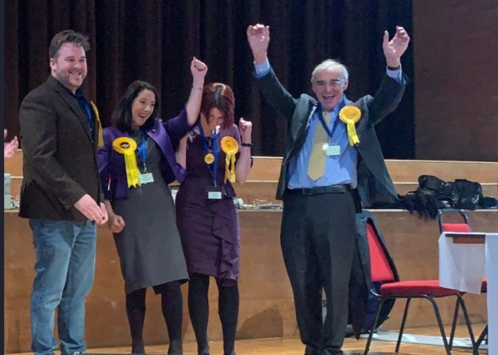 The Lib Dems react on securing Cadley ward Pic: Jack Dinsley