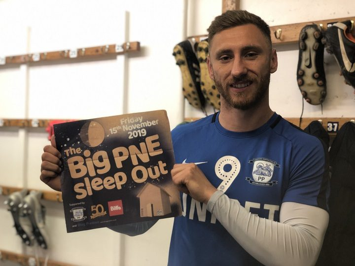 Louis Moult backing the Big PNE Sleepout