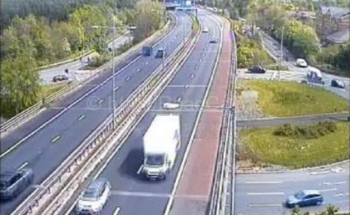 The M55 will see lane closures overnight Pic: Motorway Cameras