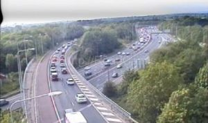 Traffic joining the M6 from the M61 on Friday Pic: Motorway Traffic Cameras