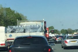 Delays on the M6 beyond Junction 32 Pic: Kelly-Marie Carberry