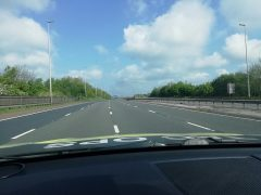 The closure in place on the M6 Pic: LancsRoadPolice