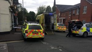 Emergency services in Meadow Street on Sunday Pic: Lee Ward