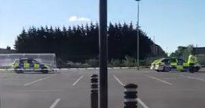 Police presence in Morrisons car park off Blackpool Road Pic: Blog Preston