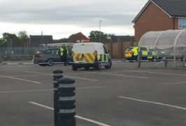 Police presence in the Morrisons car park Pic: Blog Preston