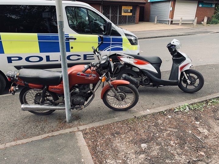 Motorbikes recovered by police Pic: Preston Police
