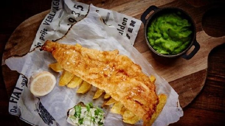 Fish and chips at the English Chophouse