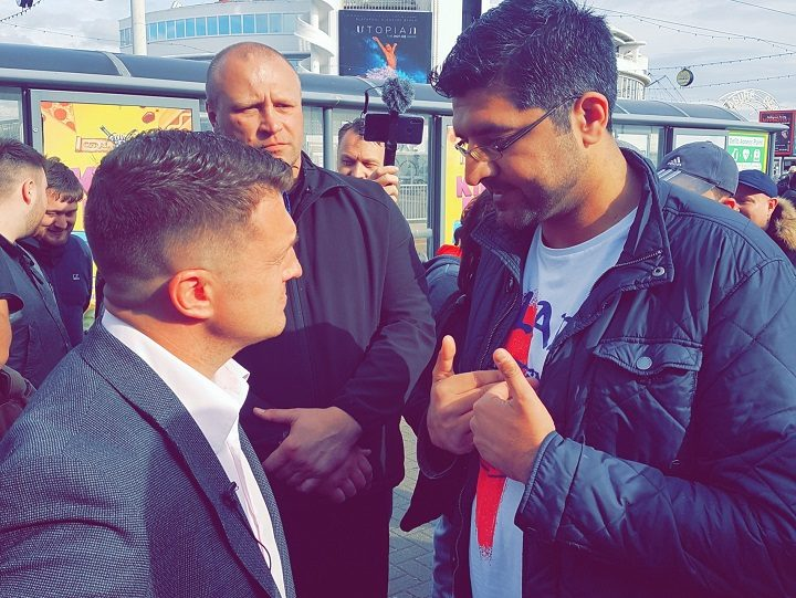 Tommy Robinson and Nadeem Ashfaq