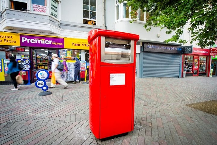 One of the new parcel postboxes elsewhere in the UK where they were tested last year Pic: Royal Mail