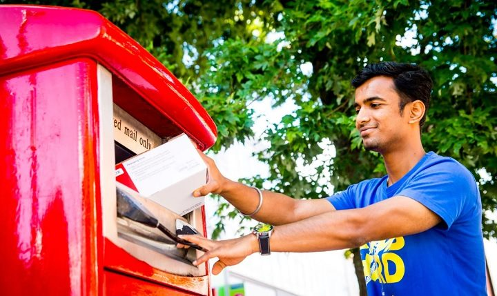 One of the new parcel post boxes Pic: Royal Mail