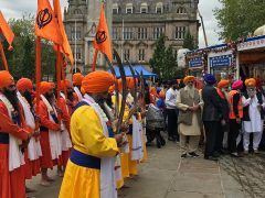 The parade finished on the Flag Market Pic: Preston Sikh Society