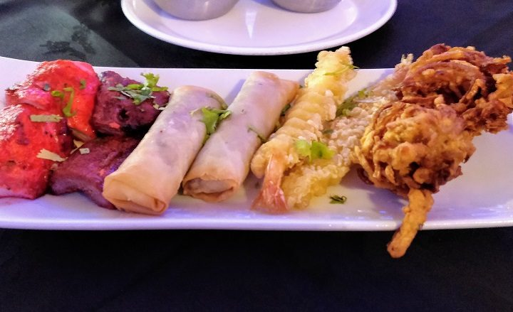 Starter sharing platter at The Silk Route