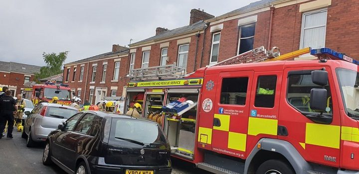Suffolk Road saw emergency services at the scene during Sunday morning Pic: Blog Preston