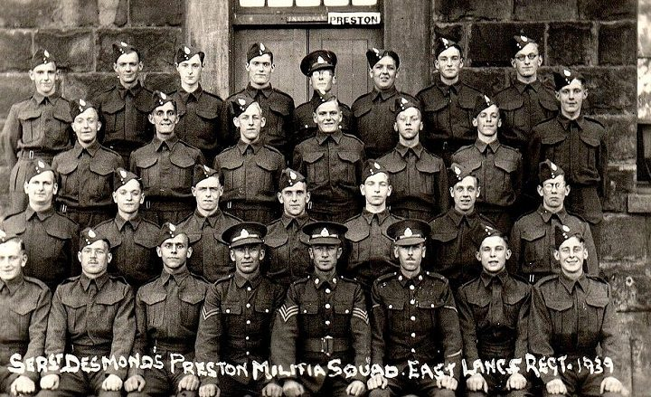 Troops preparing for war at Fulwood Barracks