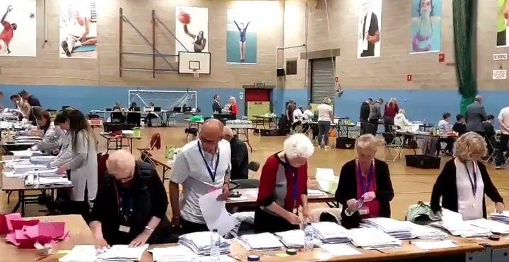 The Preston election count in West View Leisure Centre Pic: Preston Council